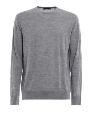Prada: crew necks - Combed wool crew neck pullover