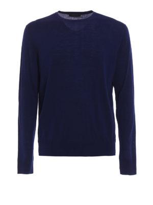 Prada: crew necks - Combed wool crew neck sweater