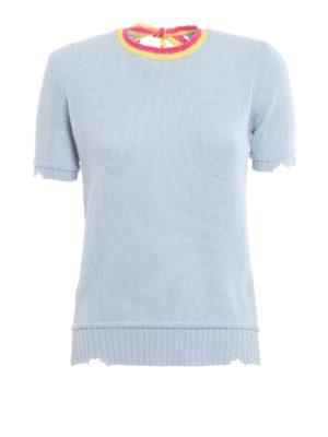 Prada: crew necks - Destroyed effect knitted crewneck