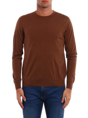 Prada: crew necks online - Combed wool crew neck pullover