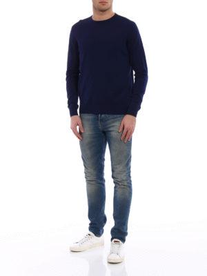 Prada: crew necks online - Combed wool crew neck sweater