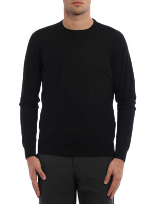 Prada: crew necks online - Combed wool crewneck