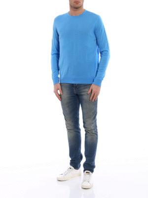 Prada: crew necks online - Combed wool crewneck sweater