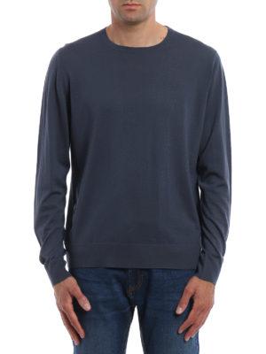 Prada: crew necks online - Pure combed wool crewneck