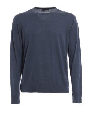 Prada: crew necks - Pure combed wool crewneck