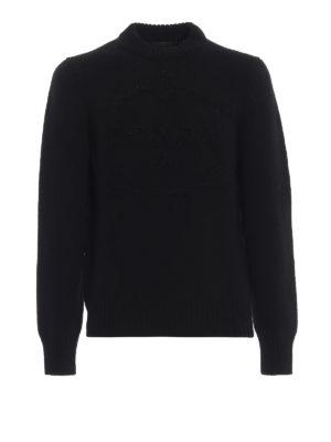PRADA: maglia collo rotondo - Girocollo nero in lana e cashmere