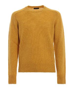 PRADA: maglia collo rotondo - Maglione girocollo in shetland giallo
