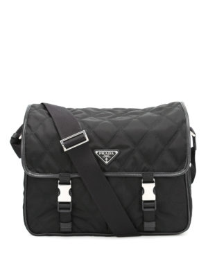 Prada: cross body bags - Argyle quilted nylon bag