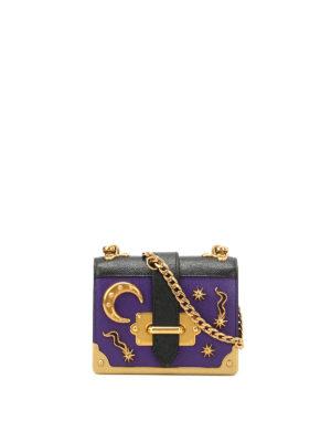 Prada: cross body bags - Cahier micro two-tone saffiano bag