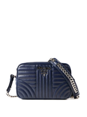 Prada: cross body bags - Diagramme quilted leather bag