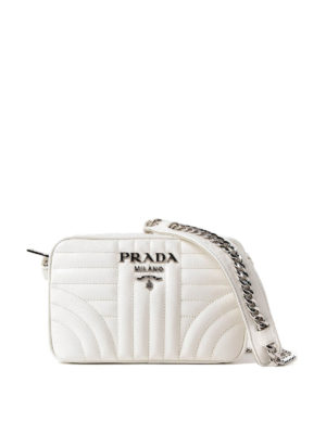 Prada: cross body bags - Diagramme soft white crossbody