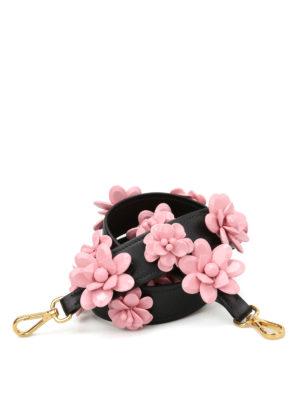 Prada: cross body bags - Flower shoulder strap