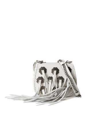 Prada: cross body bags - Fringed leather cross body bag