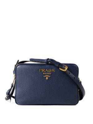 Prada: cross body bags - Hammered leather bag