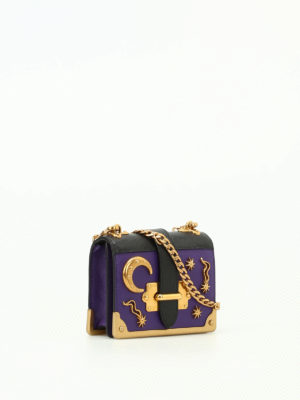 Prada: cross body bags online - Cahier micro two-tone saffiano bag