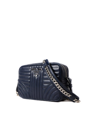 Prada: cross body bags online - Diagramme quilted leather bag