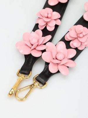 Prada: cross body bags online - Flower shoulder strap