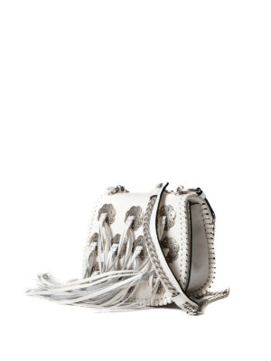 Prada: cross body bags online - Fringed leather cross body bag