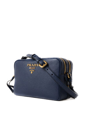 Prada: cross body bags online - Hammered leather bag