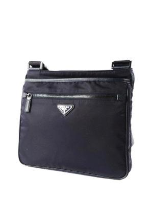 Prada: cross body bags online - Nylon and saffiano shoulder bag