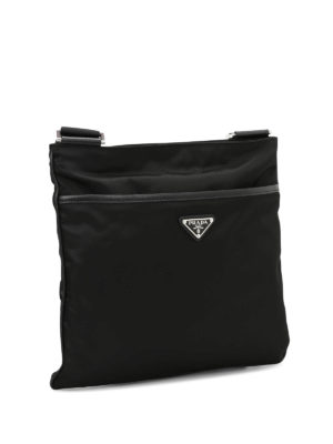 Prada: cross body bags online - Nylon flat crossbody