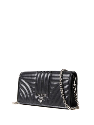 Prada: cross body bags online - Quilted leather black crossbody