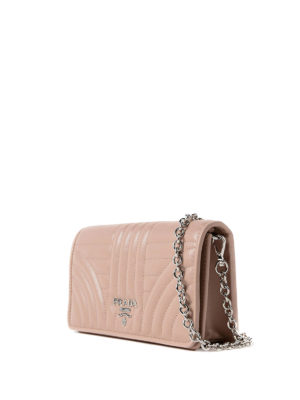 Prada: cross body bags online - Quilted leather powder crossbody