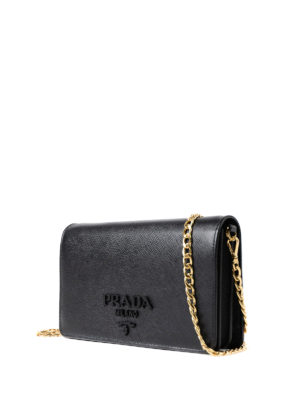 Prada: cross body bags online - Saffiano leather cross body bag