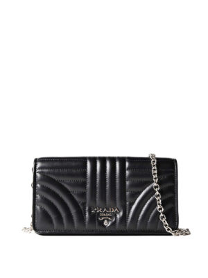 Prada: cross body bags - Quilted leather black crossbody