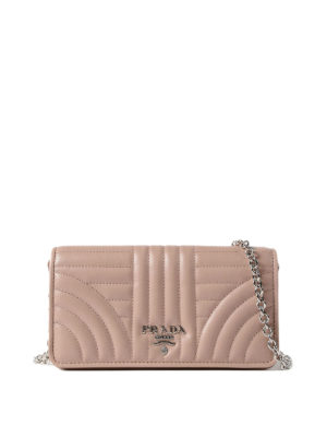 Prada: cross body bags - Quilted leather powder crossbody
