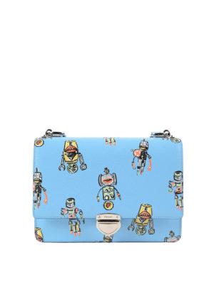 Prada: cross body bags - Robot print saffiano crossbody