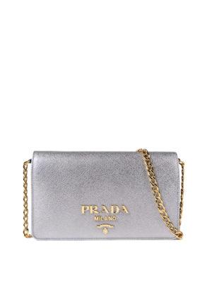 Prada: cross body bags - Saffiano rectangular crossbody