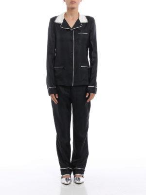 Prada: dinner suits online - Silk twill suit