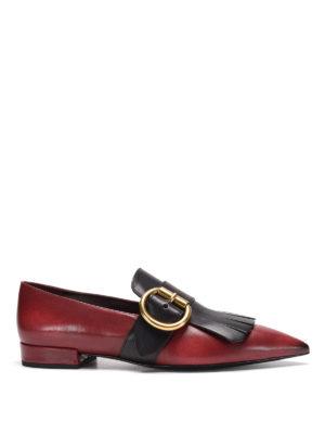 Prada: flat shoes - Fringed leather flat shoes