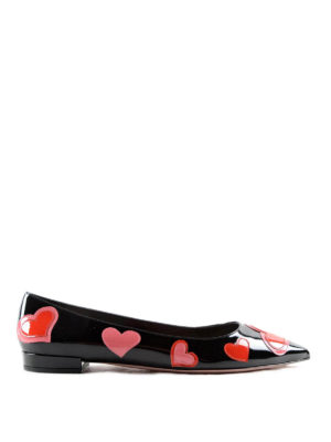 Prada: flat shoes - Heart patches patent flats