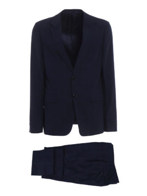 Prada: formal suits - Check wool and silk blend suit