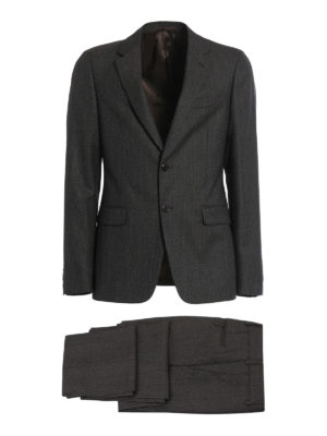 Prada: formal suits - Damier wool formal suit