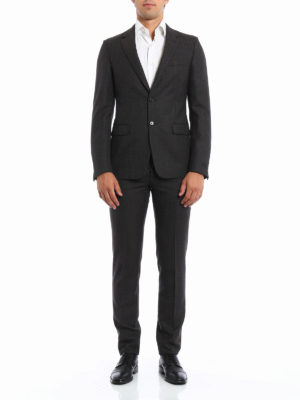 Prada: formal suits online - Damier wool formal suit