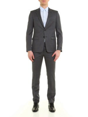 Prada: formal suits online - Puntaspillo wool pique formal suit