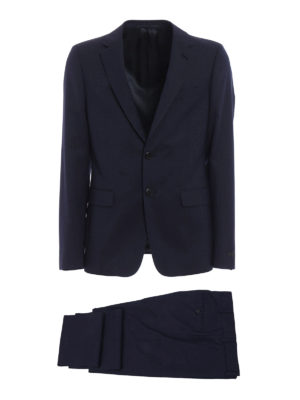Prada: formal suits - Puntaspillo wool pique formal suit
