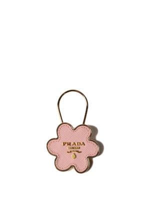 Prada: key holders - Flower-shaped key holder