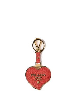 Prada: key holders - Heart-shaped key holder