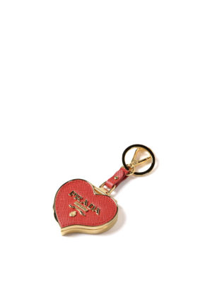 Prada: key holders online - Heart-shaped key holder