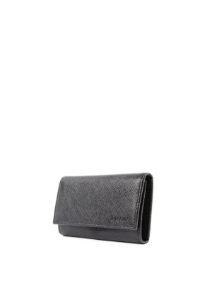 Prada: key holders online - Saffiano leather key holder