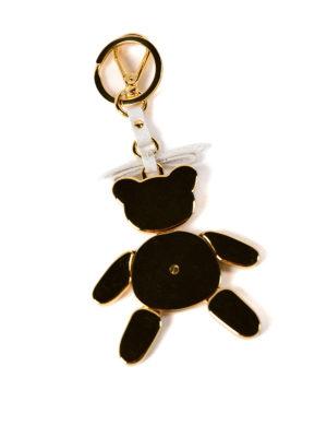 Prada: key holders online - Trick saffiano leather key holder
