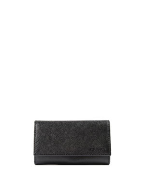 Prada: key holders - Saffiano leather key holder