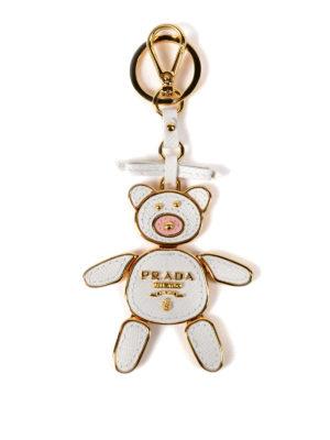 Prada: key holders - Trick saffiano leather key holder
