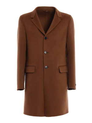 Prada: knee length coats - Camel double coat