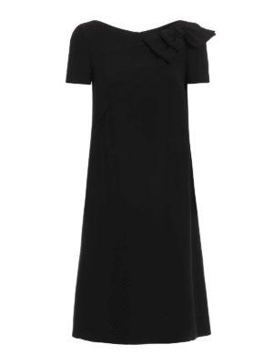 Prada: knee length dresses - Bow detail cady dress