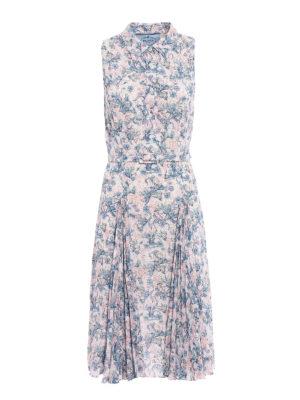 Prada: knee length dresses - Printed Sablé Lily dress